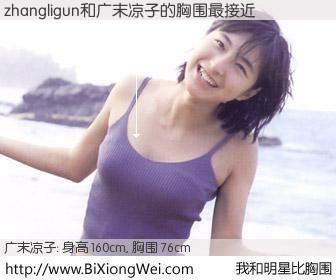 #我和明星比胸围# 身高 160cm,胸围 76cm,别不好意思!zhangligun与日本明星广末凉子的胸围最接近!有图有真相: