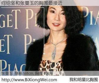 #我和明星比胸围# 身高 168cm,胸围 83cm,一看就知,何绍坚与香港影星张曼玉的胸围最接近!有图有真相: