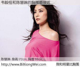 #我和明星比胸围# 身高 172cm,胸围 88cm,Oh, My God!韦毅恒与香港明星陈慧琳的胸围最接近!有图有真相: