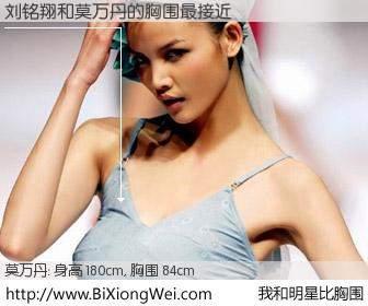 #我和明星比胸围# 身高 180cm,胸围 82cm,一看就知,刘铭翔与内地名模莫万丹的胸围最接近!有图有真相: