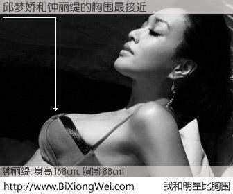 #我和明星比胸围# 身高 167cm,胸围 88cm,还用说吗?邱梦娇与香港影星钟丽缇的胸围最接近!有图有真相: