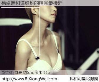 #我和明星比胸围# 身高 170cm,胸围 86cm,不可思议啊!杨卓瑞与内地歌星谭维维的胸围最接近!有图有真相: