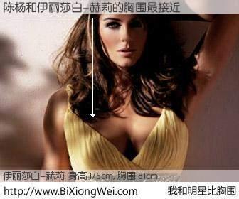 #我和明星比胸围# 身高 176cm,胸围 81cm,不用多说,陈杨与美国影星伊丽莎白-赫莉的胸围最接近!有图有真相: