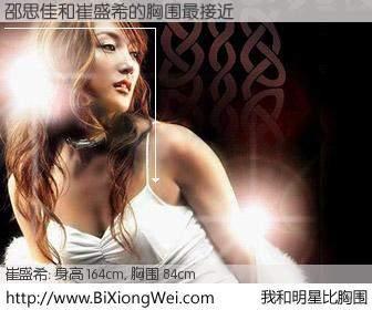 #我和明星比胸围# 身高 163cm,胸围 84cm,我们都看见了!邵思佳与韩国歌手崔盛希的胸围最接近!有图有真相: