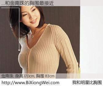 #我和明星比胸围# 身高 170cm,胸围 83cm,不可思议啊!...与韩国明星金南珠的胸围最接近!有图有真相: