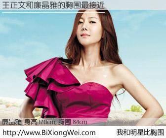 #我和明星比胸围# 身高 170cm,胸围 84cm,一看就知,王正文与韩国演员廉晶雅的胸围最接近!有图有真相:
