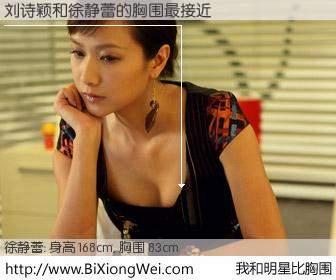 #我和明星比胸围# 身高 168cm,胸围 83cm,地球人都知道,刘诗颖与内地影星徐静蕾的胸围最接近!有图有真相: