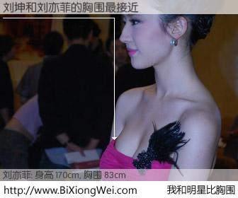#我和明星比胸围# 身高 170cm,胸围 83cm,显而易见,刘坤与内地明星刘亦菲的胸围最接近!有图有真相: