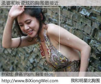 #我和明星比胸围# 身高 170cm,胸围 89cm,噢,卖糕的!孟婆与韩国演员秋瓷炫的胸围最接近!有图有真相: