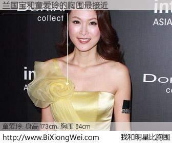 #我和明星比胸围# 身高 173cm,胸围 84cm,有目共睹,兰国宝与香港明星童爱玲的胸围最接近!有图有真相: