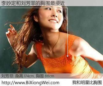 #我和明星比胸围# 身高 174cm,胸围 88cm,奇迹发生了!李妙定与内地主播刘芳菲的胸围最接近!有图有真相: