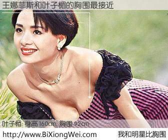 #我和明星比胸围# 身高 160cm,胸围 93cm,显而易见,王娜菲斯与香港明星叶子楣的胸围最接近!有图有真相: