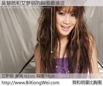 #我和明星比胸围# 身高 162cm,胸围 83cm,不用多说,吴慧然与内地歌手艾梦萌的胸围最接近!有图有真相: