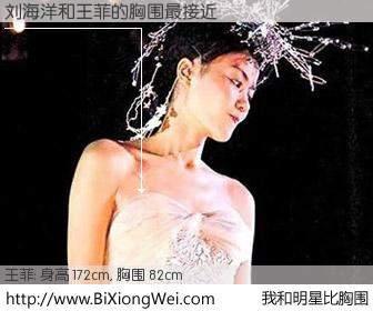 #我和明星比胸围# 身高 172cm,胸围 82cm,别不好意思!刘海洋与内地歌星王菲的胸围最接近!有图有真相: