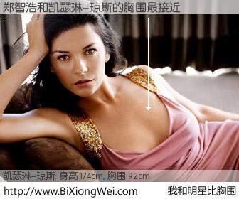 #我和明星比胸围# 身高 173cm,胸围 92cm,地球人都知道,郑智浩与英国影星凯瑟琳-琼斯的胸围最接近!有图有真相: