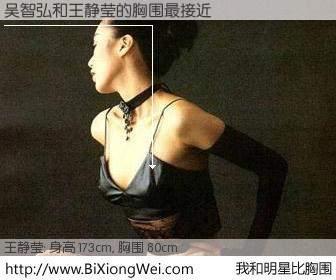 #我和明星比胸围# 身高 175cm,胸围 80cm,不用多说,吴智弘与台湾影星王静莹的胸围最接近!有图有真相: