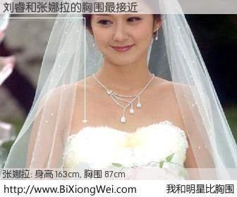 #我和明星比胸围# 身高 163cm,胸围 87cm,奇迹发生了!刘睿与韩国女星张娜拉的胸围最接近!有图有真相: