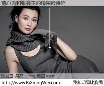 #我和明星比胸围# 身高 168cm,胸围 83cm,奇迹发生了!董心瑜与香港影星张曼玉的胸围最接近!有图有真相: