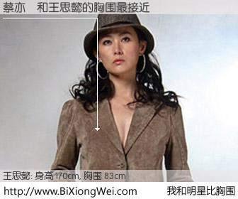 #我和明星比胸围# 身高 170cm,胸围 83cm,Oh, My God!蔡亦玘与台湾明星王思懿的胸围最接近!有图有真相:
