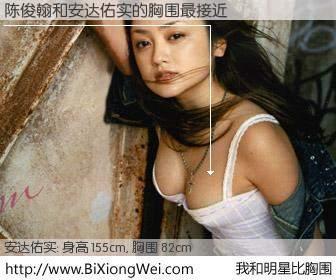 #我和明星比胸围# 身高 155cm,胸围 82cm,还用说吗?陈俊翰与日本演员安达佑实的胸围最接近!有图有真相: