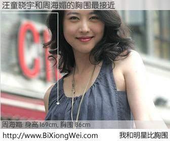 #我和明星比胸围# 身高 169cm,胸围 86cm,你必须知道:汪童晓宇与香港影星周海媚的胸围最接近!有图有真相: