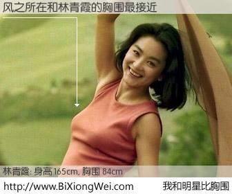 #我和明星比胸围# 身高 165cm,胸围 84cm,无需再测,风之所在与台湾影星林青霞的胸围最接近!有图有真相: