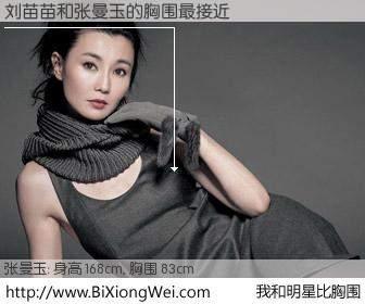 #我和明星比胸围# 身高 167cm,胸围 83cm,你自己都没想到吧?刘苗苗与香港影星张曼玉的胸围最接近!有图有真相: