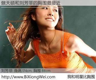 #我和明星比胸围# 身高 174cm,胸围 88cm,不可思议啊!傲天硕与内地主播刘芳菲的胸围最接近!有图有真相: