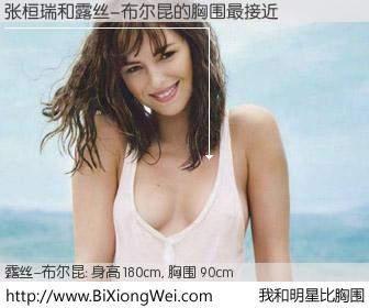#我和明星比胸围# 身高 181cm,胸围 90cm,不用多说,张桓瑞与法国影星露丝-布尔昆的胸围最接近!有图有真相: