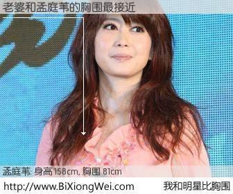 #我和明星比胸围# 身高 158cm,胸围 81cm,有目共睹,老婆与台湾明星孟庭苇的胸围最接近!有图有真相: