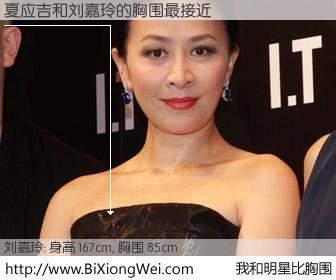 #我和明星比胸围# 身高 167cm,胸围 85cm,哇,我的神啊!夏应吉与香港明星刘嘉玲的胸围最接近!有图有真相: