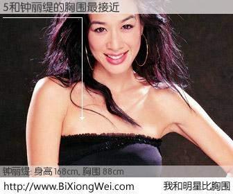 #我和明星比胸围# 身高 168cm,胸围 88cm,还用说吗?5与香港影星钟丽缇的胸围最接近!有图有真相:
