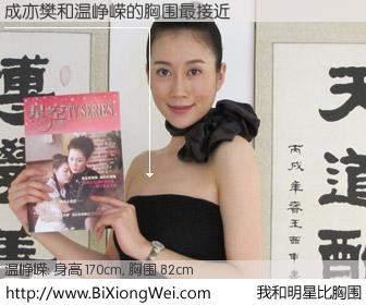 #我和明星比胸围# 身高 169cm,胸围 82cm,你必须知道:成亦樊与内地演员温峥嵘的胸围最接近!有图有真相: