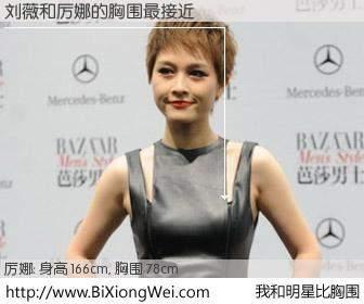 #我和明星比胸围# 身高 166cm,胸围 77cm,你必须知道:刘薇与内地歌手厉娜的胸围最接近!有图有真相: