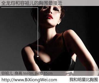 #我和明星比胸围# 身高 166cm,胸围 85cm,一看就知,全龙均与香港歌星容祖儿的胸围最接近!有图有真相: