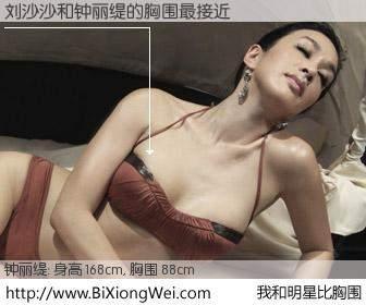 #我和明星比胸围# 身高 167cm,胸围 88cm,哇,我的神啊!刘沙沙与香港影星钟丽缇的胸围最接近!有图有真相: