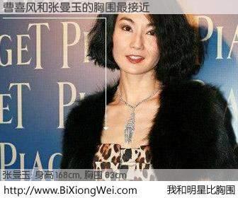 #我和明星比胸围# 身高 168cm,胸围 83cm,噢,卖糕的!曹喜风与香港影星张曼玉的胸围最接近!有图有真相: