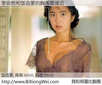 #我和明星比胸围# 身高 160cm,胸围 88cm,一看就知,李安然与日本明星饭岛爱的胸围最接近!有图有真相: