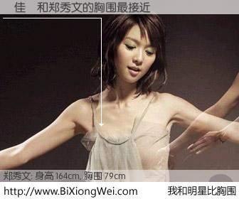 #我和明星比胸围# 身高 164cm,胸围 79cm,还用说吗?呂佳穎与香港歌星郑秀文的胸围最接近!有图有真相: