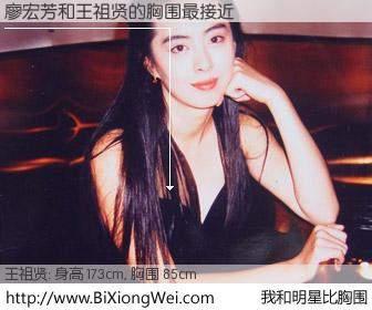 #我和明星比胸围# 身高 173cm,胸围 85cm,还用说吗?廖宏芳与台湾影星王祖贤的胸围最接近!有图有真相: