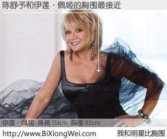 #我和明星比胸围# 身高 150cm,胸围 85cm,你必须知道:陈舒予与英国音乐剧天后伊莲·佩姬的胸围最接近!有图有真相: