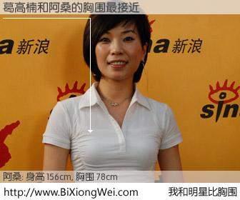 #我和明星比胸围# 身高 155cm,胸围 78cm,噢,卖糕的!葛高楠与台湾歌星阿桑的胸围最接近!有图有真相:
