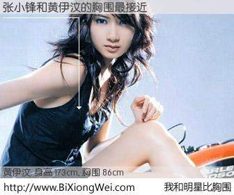 #我和明星比胸围# 身高 173cm,胸围 86cm,不用多说,张小锋与香港明星黄伊汶的胸围最接近!有图有真相: