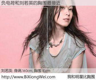 #我和明星比胸围# 身高 160cm,胸围 81cm,不言而喻,负电荷与台湾歌星刘若英的胸围最接近!有图有真相: