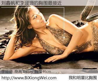 #我和明星比胸围# 身高 176cm,胸围 93cm,我们都看见了!刘鑫帆与香港明星李珊珊的胸围最接近!有图有真相: