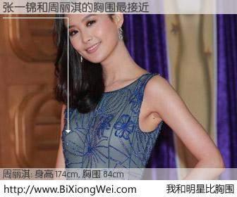 #我和明星比胸围# 身高 174cm,胸围 84cm,别不好意思!张一锦与香港明星周丽淇的胸围最接近!有图有真相: