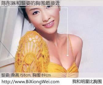 #我和明星比胸围# 身高 158cm,胸围 89cm,噢,卖糕的!陈彤琳与香港明星黎姿的胸围最接近!有图有真相: