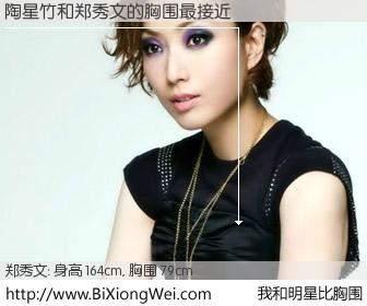#我和明星比胸围# 身高 162cm,胸围 79cm,不可思议啊!陶星竹与香港歌星郑秀文的胸围最接近!有图有真相: