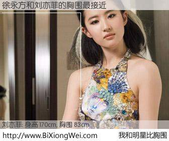 #我和明星比胸围# 身高 170cm,胸围 83cm,显而易见,徐永方与内地明星刘亦菲的胸围最接近!有图有真相: