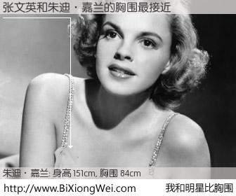#我和明星比胸围# 身高 150cm,胸围 84cm,不言而喻,张文英与美国著名演员和歌星朱迪·嘉兰的胸围最接近!有图有真相: